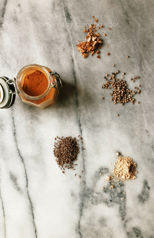 homemade curry powder by gourmet project