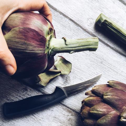 meat free week roman artichokes recipe