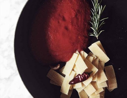 one pan tomato pasta
