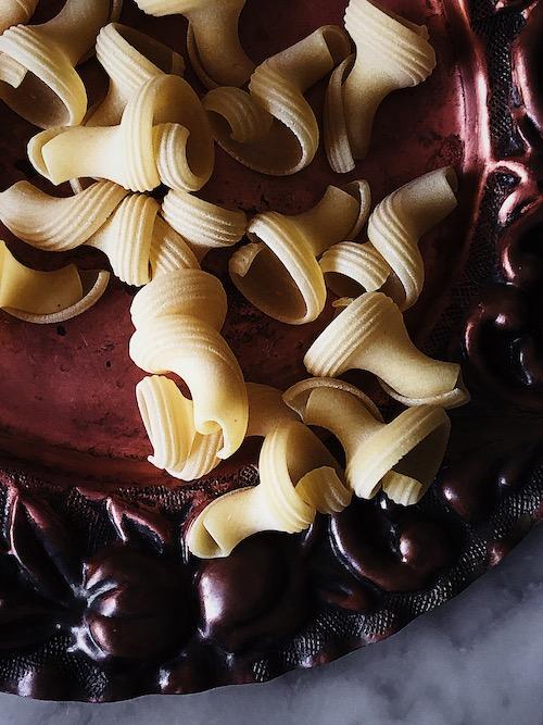 Italian pasta al dente