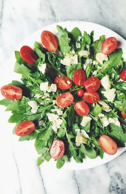 the may fair project | italian arugula salad by gourmet project