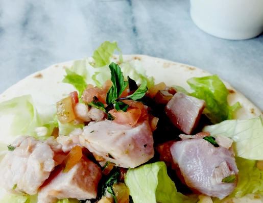 an Italian ceviche recipe and being lucky to eat ceviche all year round :-)