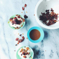Glazed Pancetta & Dulce De Leche Gelato Cups   the we need ice project by gourmet project