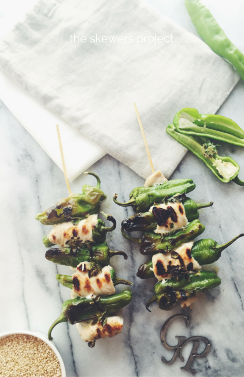 Friggitelli (also know as Friarelli) are very similar (if not the same veg) to Japanese Shishitos or Spanish Padrons. And they're delicious. Small & Sweet, usually pan-fried. Friggitelli peppers & chicken skewers with plain quinoa and avocado cream.