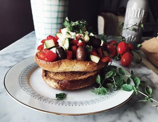 Greek salad recipe by Gourmet Project