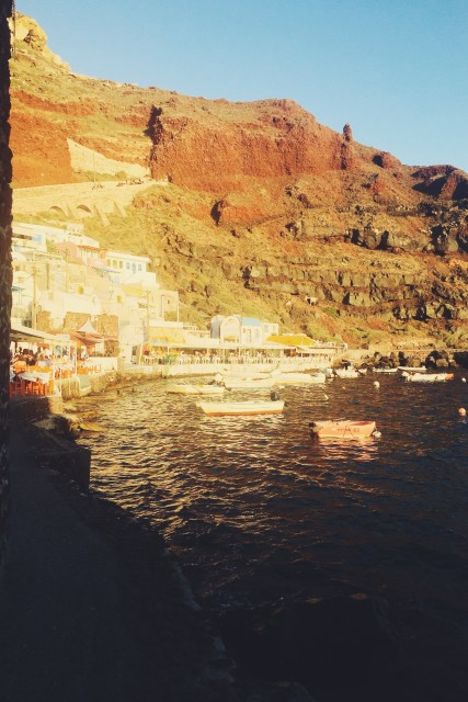 Amoudi bay sunset santorini