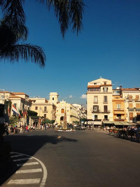 the main plaza in Sorrento
