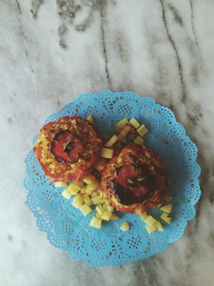 Roman Food Recipes Rice Stuffed Tomatoes Gourmet Project