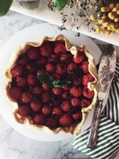 cherry tomatoes galette recipe #gourmetproject