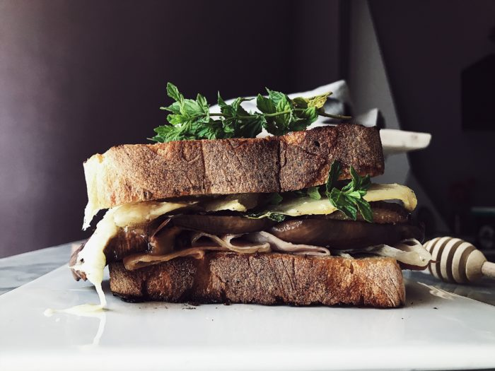 grilled cheese sandwich recipes: the eggplant grilled cheese sandwich