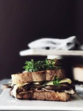 eggplant grilled cheese sandwich the Italian way #gourmetproject #italy
