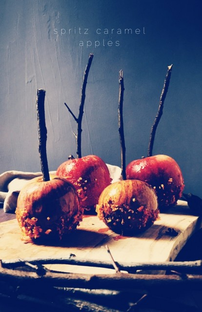 spritz caramel apples