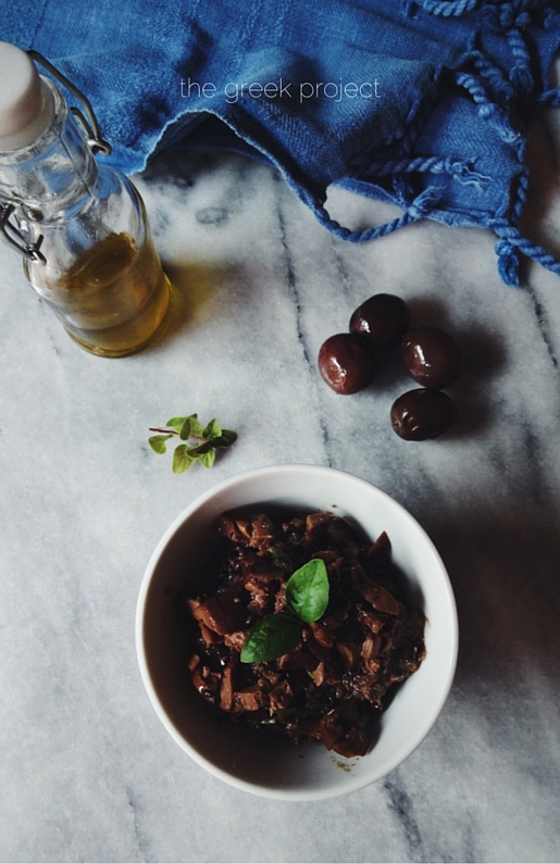 a just-blend, Greek olive tapenade recipe