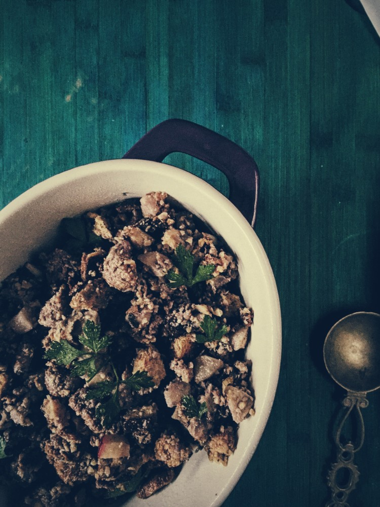 A thanksgiving Italian stuffing recipe for Rome based celebrations.