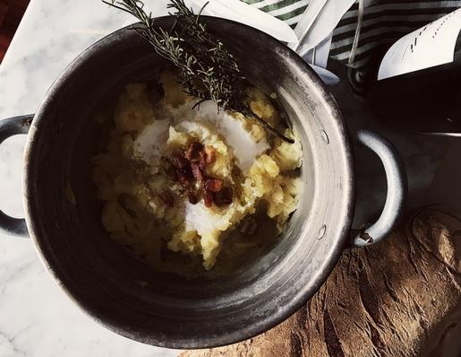 Italian Thanksgiving recipes: pancetta mashed potatoes