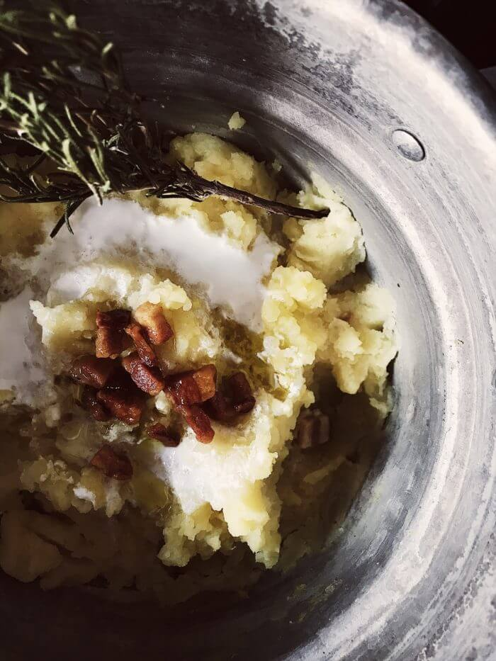 pancetta mashed potatoes with rosemary #gourmetproject #italianrecipes