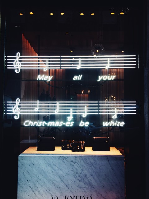 christmas windows in Milan