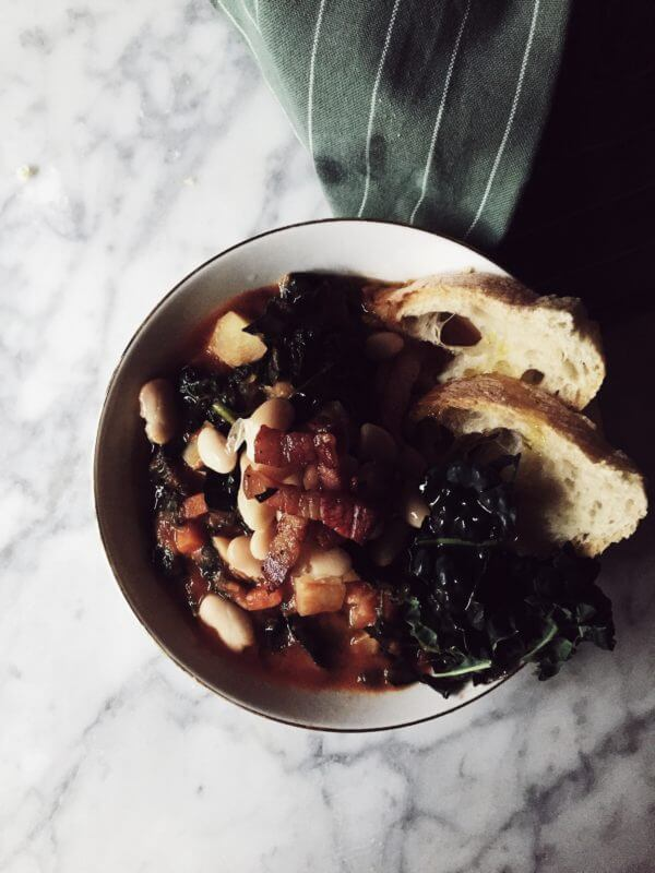 Tuscan white bean and kale soup recipe #gourmetproject