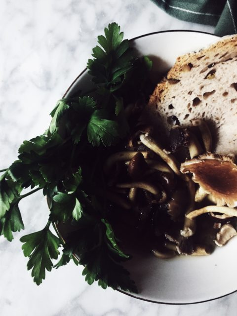a decadent mushroom soup recipe cooked in aromatic parmesan broth