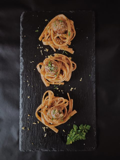 lemon spaghetti and meatballs recipe by gourmet project