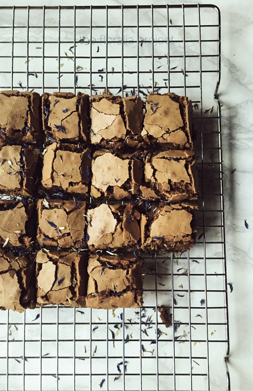 brownies from scratch with cornflowers