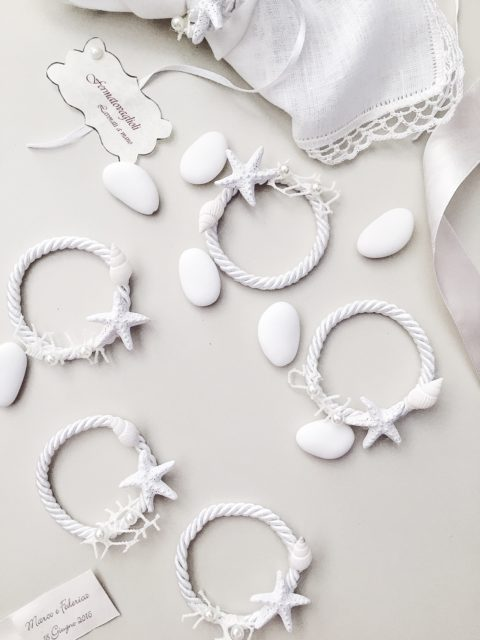 handmade napkin rings favors