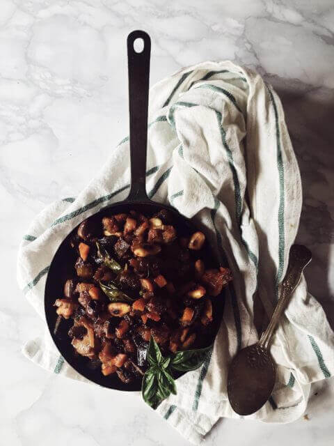 caponata recipe from Sicily