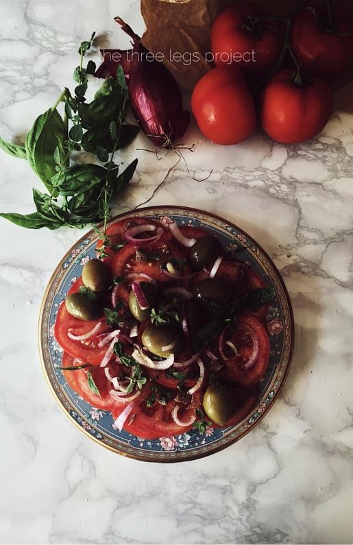 (aeolian) italian tomato salad and a greek tragedy