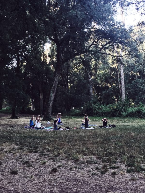 yoga in the park, at 7 am, in villa ada