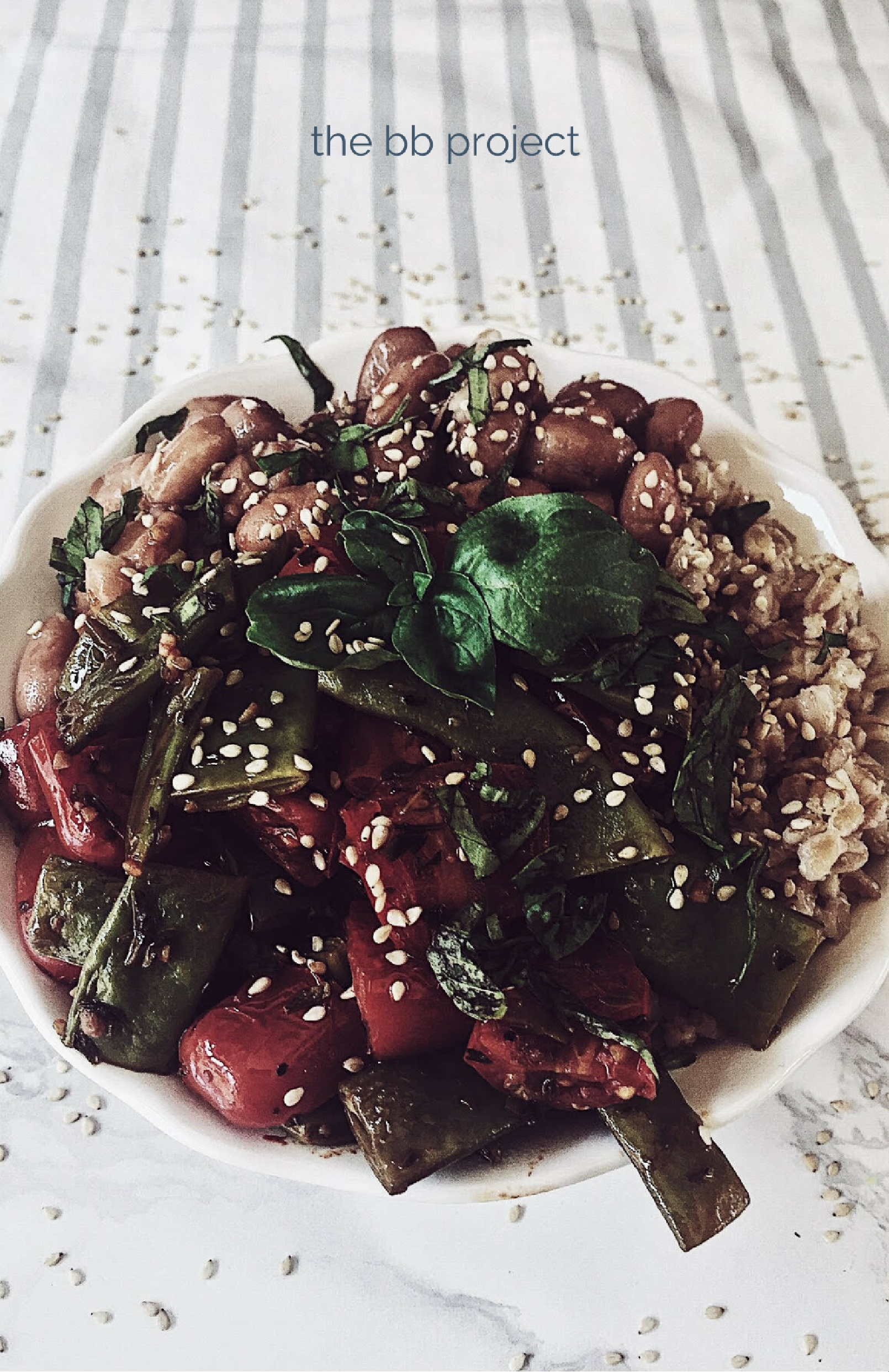 Italian farro recipes: the farro buddha bowl