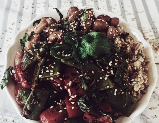 Italian farro recipes: the farro buddha bowl