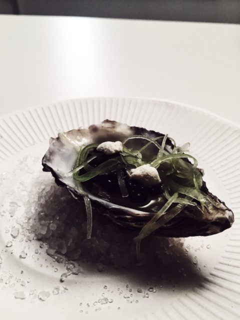 taste of rome 2016 - chef Beck's oyster on celery cream