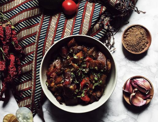 An asian stir fry recipe: tuwung goreng aka balinese wok fried eggplants