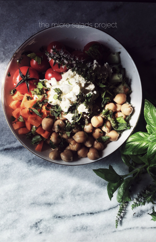 a feta and chickpeas salad recipe