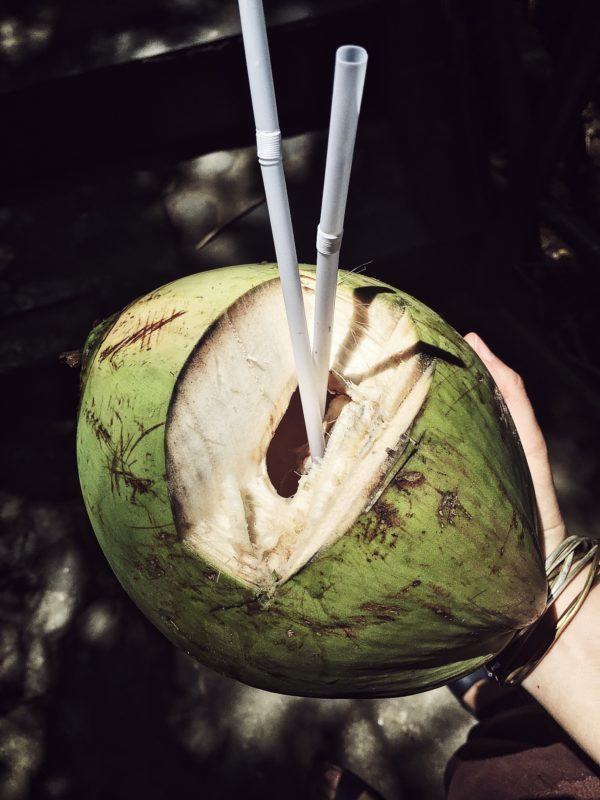 Just like in Thailand we had the 1-massage-each-day rule, in Bali I had the 1-young-coconut-each-day rule.