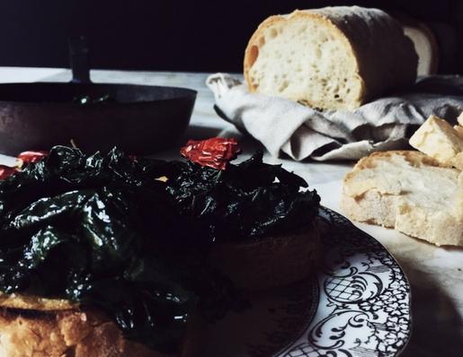 kale bruschetta from Tuscany