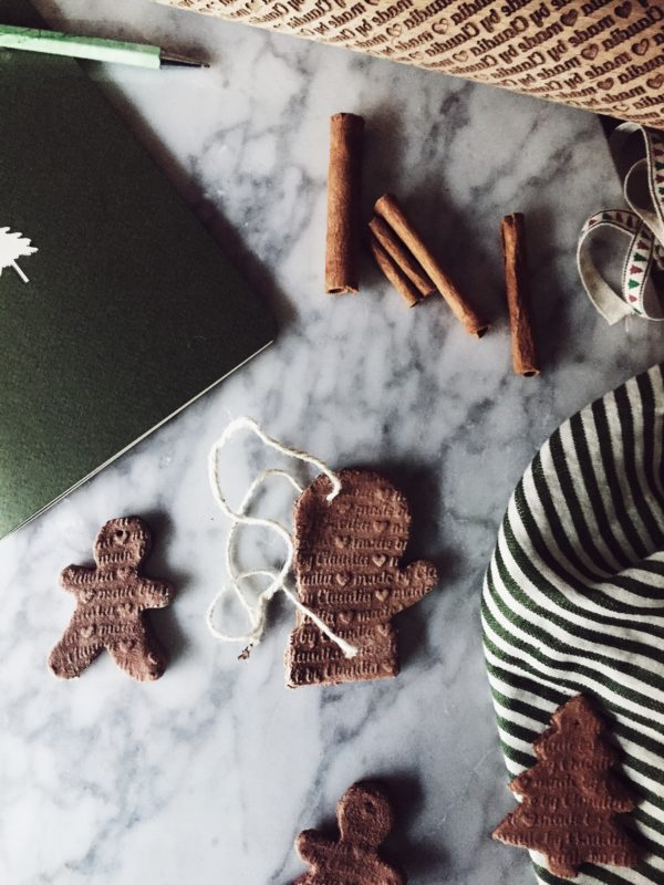 cinnamon flour and salt diy ornaments