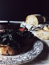 kale bruschetta authentic Tuscan recipe #gourmetproject #bruschetta #italianrecipe