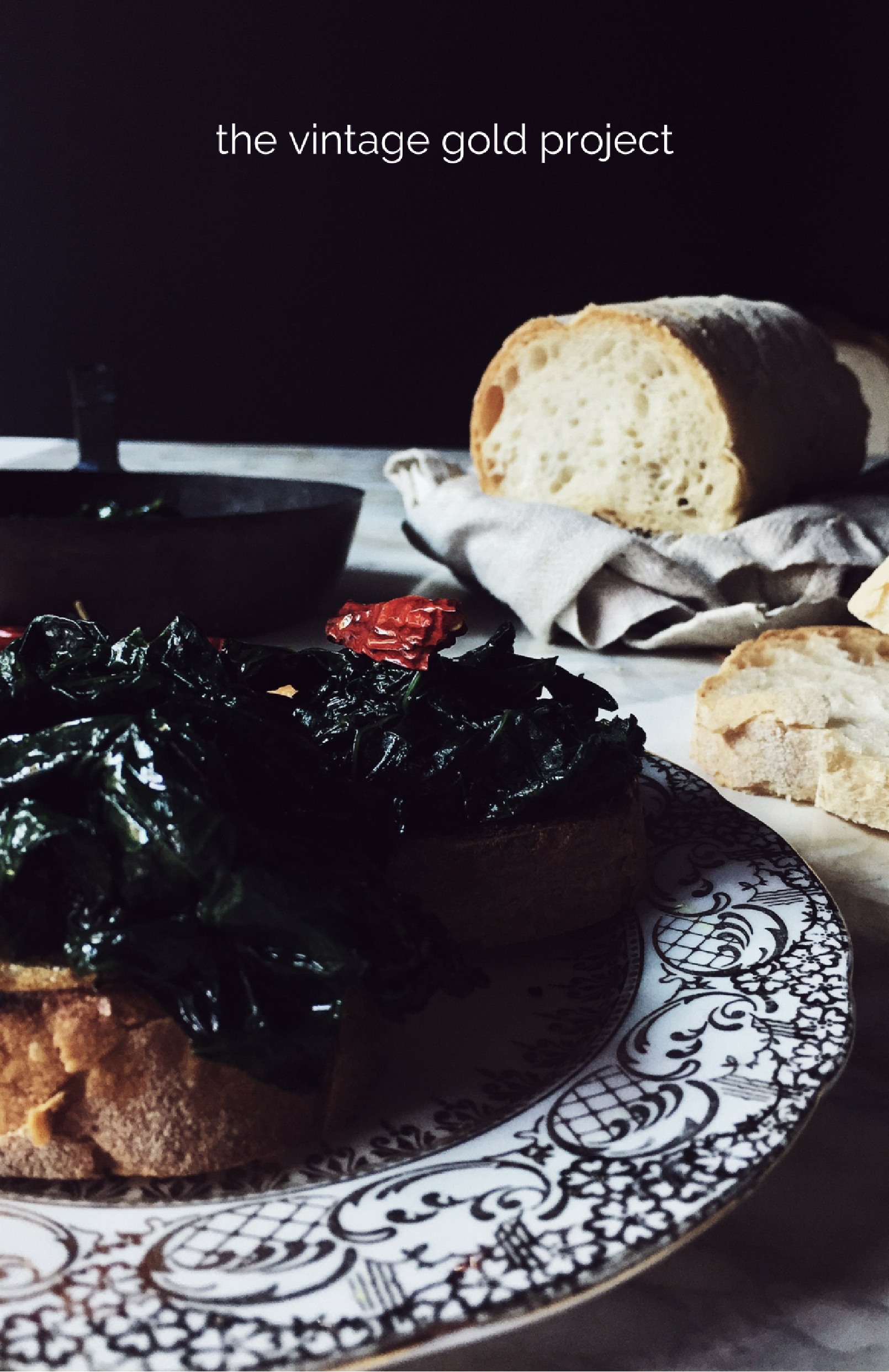 an Italian kale recipe: the black kale bruschetta
