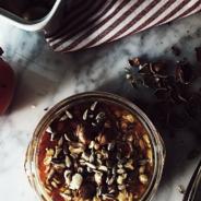 persimmon overnight oatmeal recipe + the stocking
