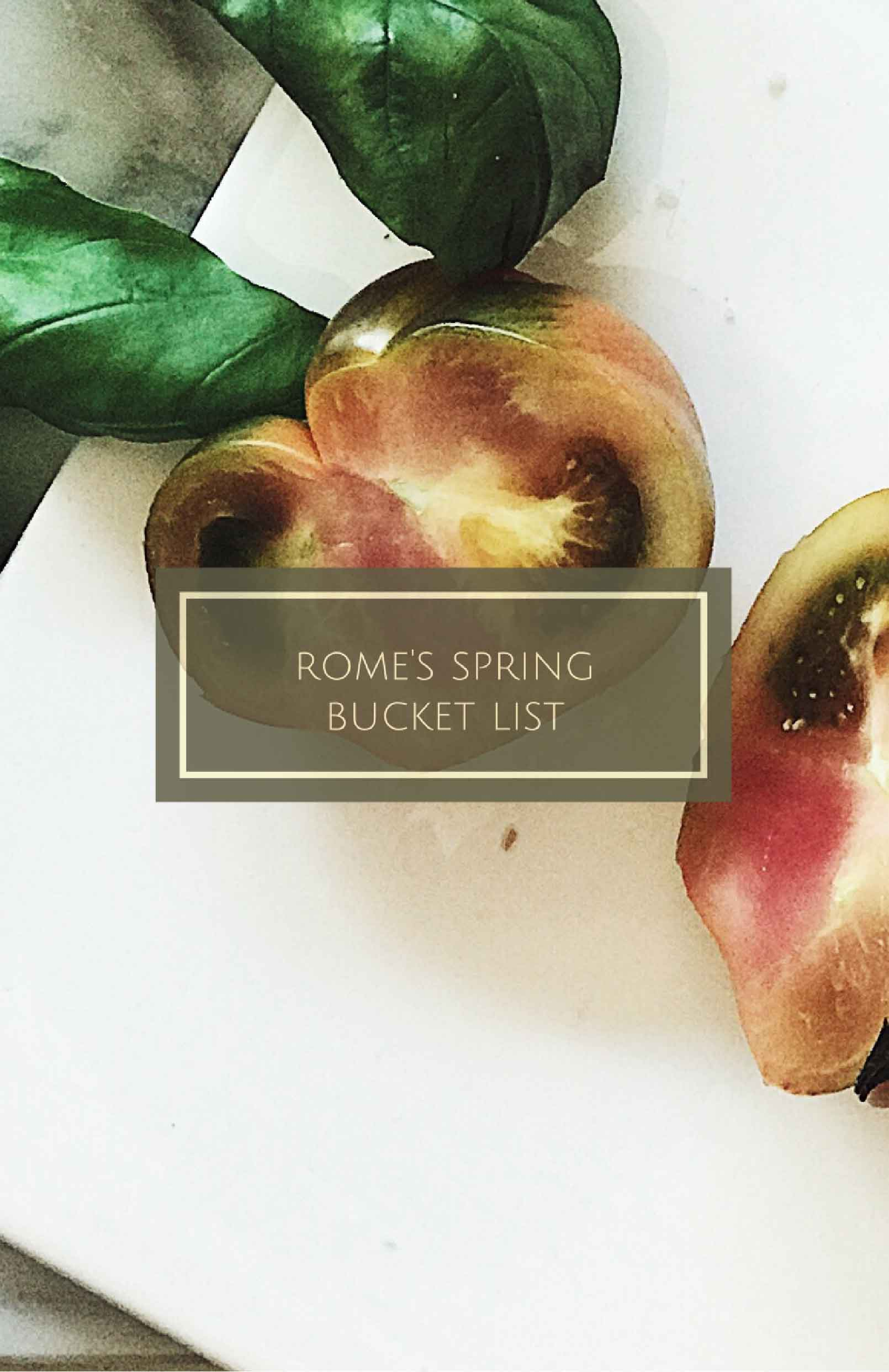 Rome's Spring Bucket List | What to do in Rome this Spring