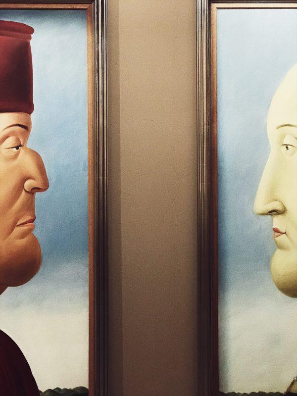 Botero art show in Rome