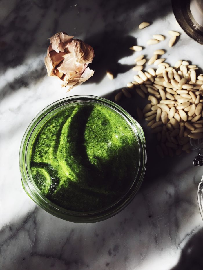 The authentic Italian basil pesto recipe. Get this and more traditional Italian recipes on Gourmet Project, a Rome based Italian food blog & magazine.
