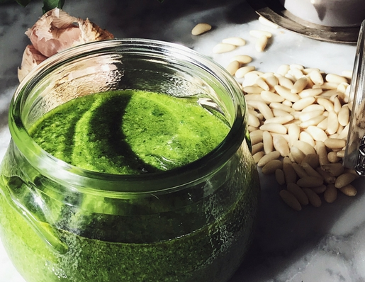 authentic Italian basil pesto recipe from Genova