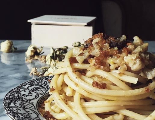 sicilian pasta with cauliflower and raisins