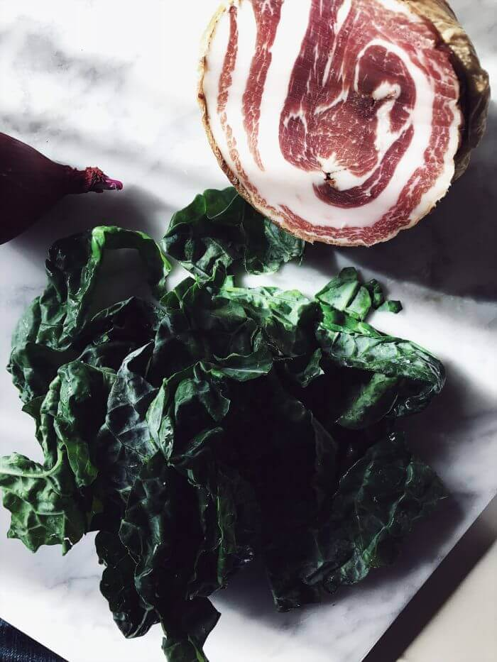 Italian kale and pancetta