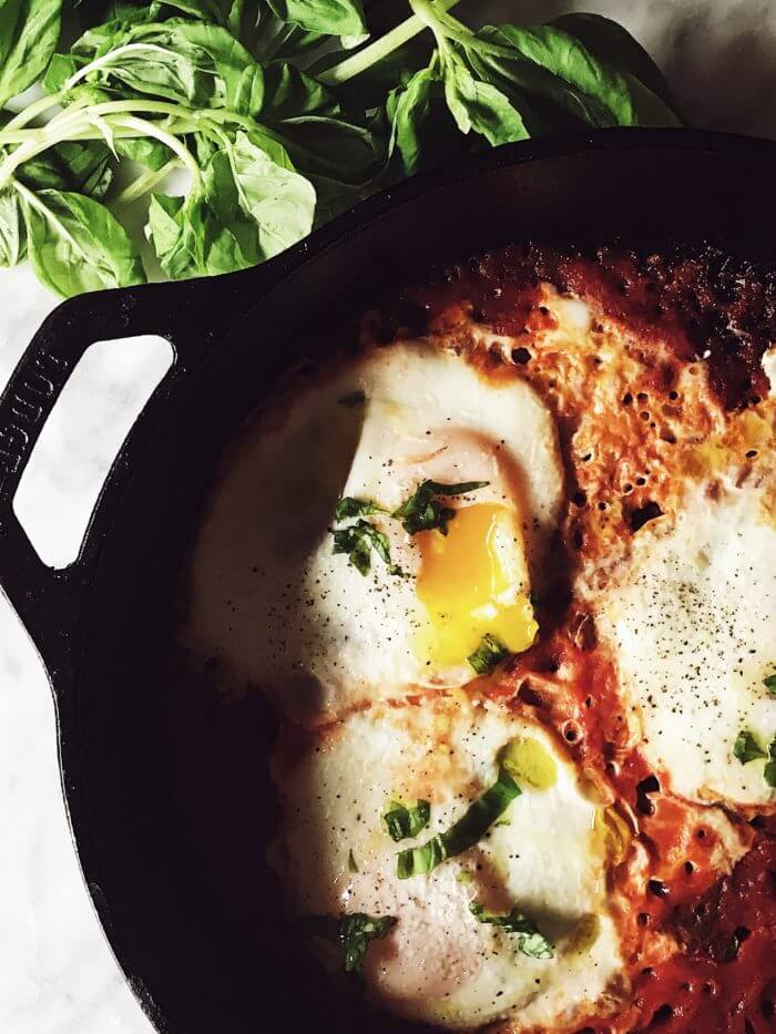 Eggs in purgatory recipe from Italy