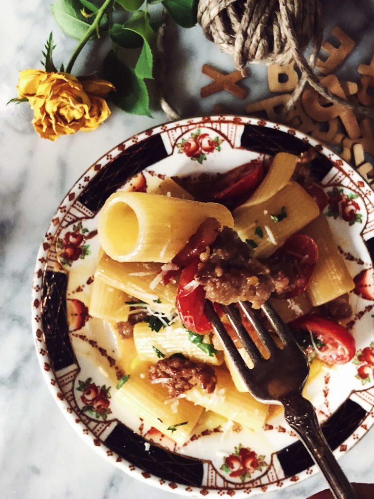 Pasta alla zozzona recipe from Rome #gourmetproject #pastarecipes