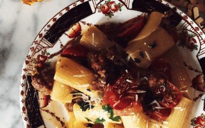 sausage pasta recipe: pasta alla zozzona