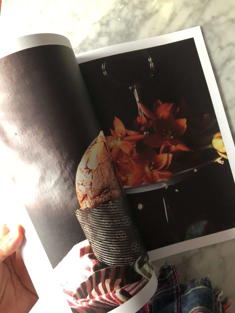 Italian Christmas Panettone in a page of the Gourmet Mag